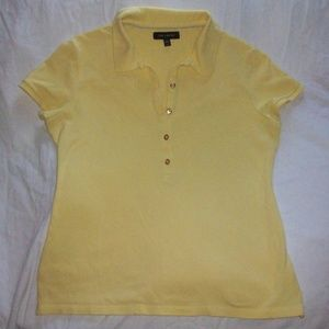 The Limited Women's Yellow Polo Shirt
